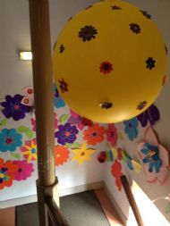 Yellow Flowery Balloon