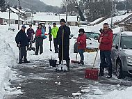Residents work together to clear Blaen Wern