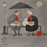 Chat and Chips in the Rain