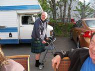 Stephen's got sore feet so needs Pats Trolley!