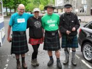 The crew about to leave Fort William on Day 7 for the Great Glen Way.