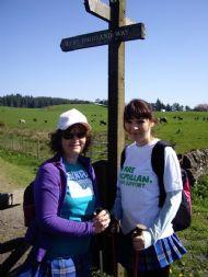 Eilidh & Sandie on Day 2 of West Highland Way.