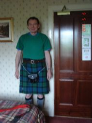 Bjorn in a Kilt at start of Great Glen Way Day 7