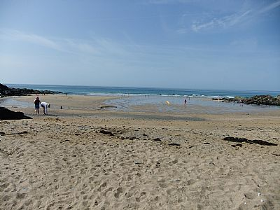church cove - excellent for sandcastles and surfing