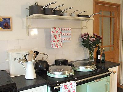 the original cosy aga in the kitchen - also good for baking