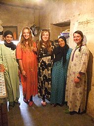 Wearing the traditional Berber dresses