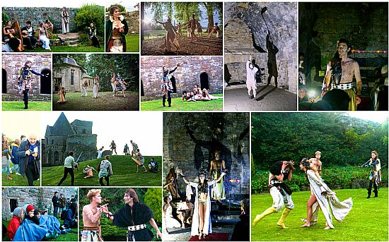 shakespear's dream on inchcolm island with highland shakespeare company