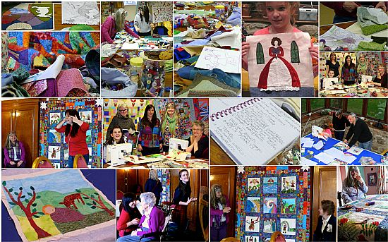 making the ceilidh quilt - inspired by traditional songs and stories of the highlands