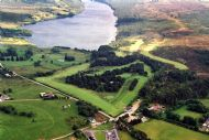 Bonar Bridge, Ardgay Golf Course from the air