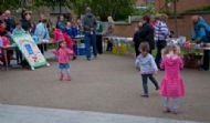 Children dancing to the Prudhoe Community Band