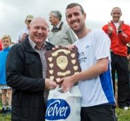 The winners shield presented to Steve Rankin