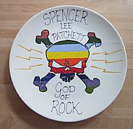 a personalised rock plate. cost �22