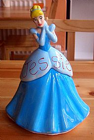 a personalised cinderella trinket box. cost �30