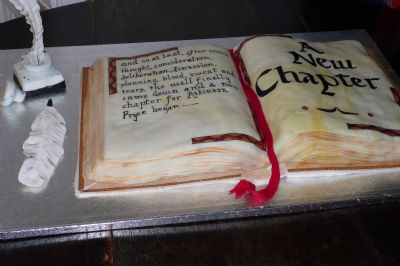a celebration cake to open our new space. september 2008