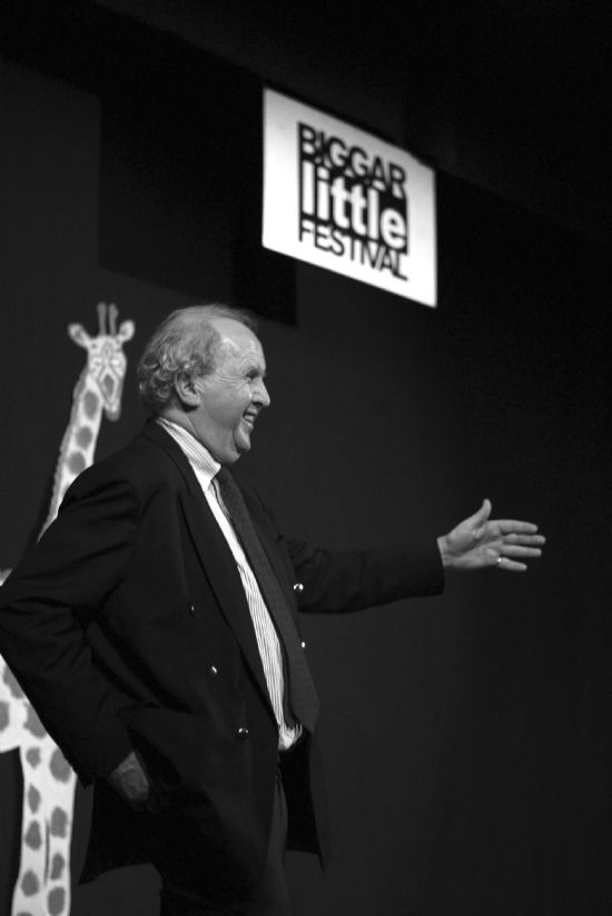 alexander mccall smith at the corn exchange, october 2008,  photograph: helen barrgington