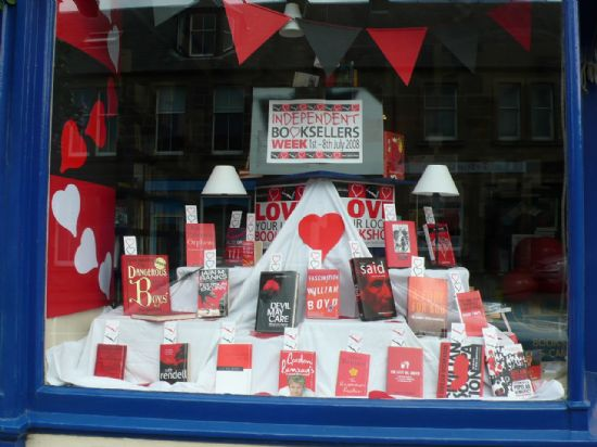 independent bookseller's week window