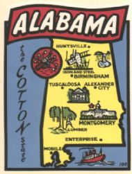 State Map Cotton State