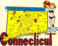 State Map Nutmeg State with Pinup