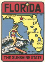 State Map Sunshine State and Surfergirl