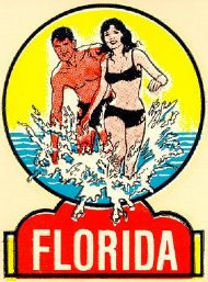 Florida, Couple in the Surf