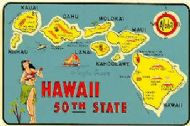 State Map Hawaii 50th State