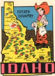 State Map Potato Country & Kid Cowboy