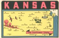 State Map Sunflower State
