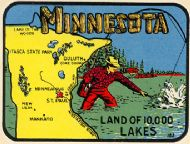 State Map Land of 10.000 Lakes