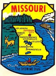 State Map Show me State, River scene