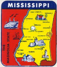 State Map Magnolia State