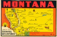 State Map Land of the Shining Mountains