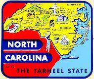 State Map Tarheel State
