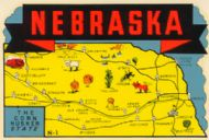 State Map Cornhusker State
