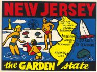State Map Garden State darker color