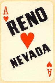 Reno Nevada on Ace of Hearts