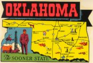 State Map Sooner State