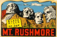 Mount Rushmore, blue sky