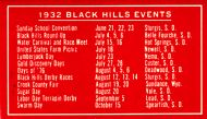 1932 Blach Hills Events