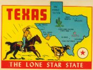 State Map Lone Star State, blue state