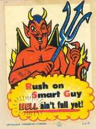 Comic Devil warning