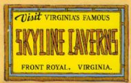 Front Royal, Skyline Caverns