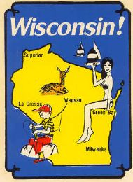 State Map Pinup and fishing Boy