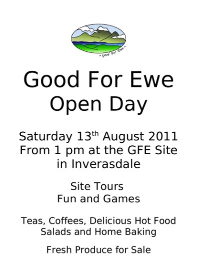 gfe openday 2011 flyer