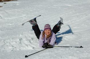 aviemore ski schol lessons on cairngorm, having fun