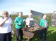 trefoil guild firing up the bbq at killearnan