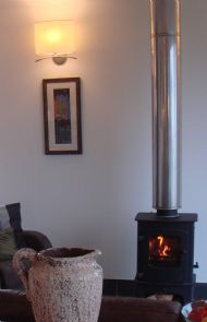 Lounge area wood burner
