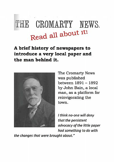 poster for cromarty news exhibition