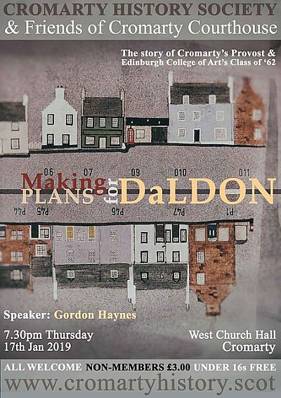 poster for talk on 17 january:  making pans for daldon the story of cromarty's provost and edinburgh college of art class of '62