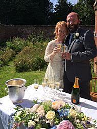 Summer wedding sunshine