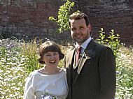 Summer wedding in the garden
